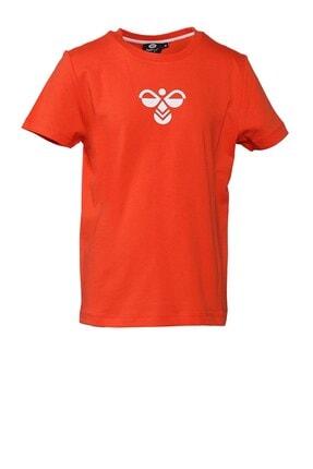 HUMMEL Unisex Çocuk Kırmızı Tişört 911298-1102