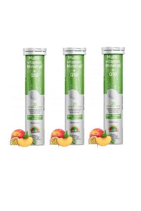 Sunlife Multivitamin, Mineral Ve Koenzim Q10 Içeren 20 Efervesan Tablet X3 Adet