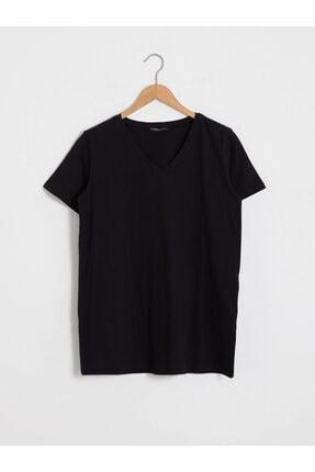 LC Waikiki Kadın Siyah Kısa Kollu T-shirt
