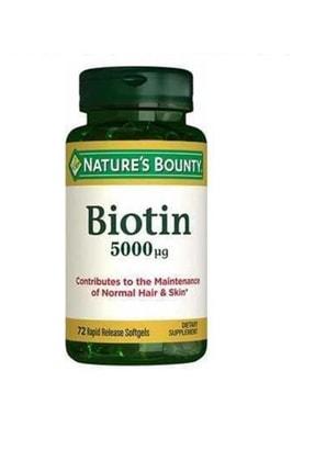 Nature's Bounty Biotin 5000 Mg 72 Kapsül