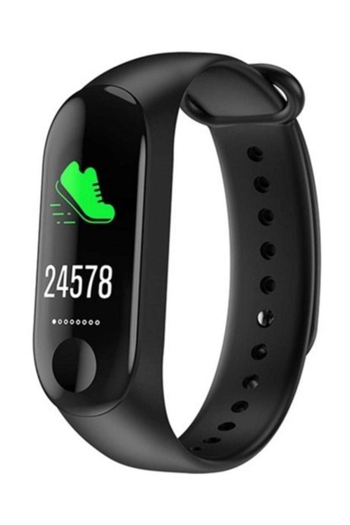 pazariz Band 3 Akıllı Bileklik - Adımsayar - Uyku Takip - Kalp Ritim Ölçer - Renkli Ekran 1