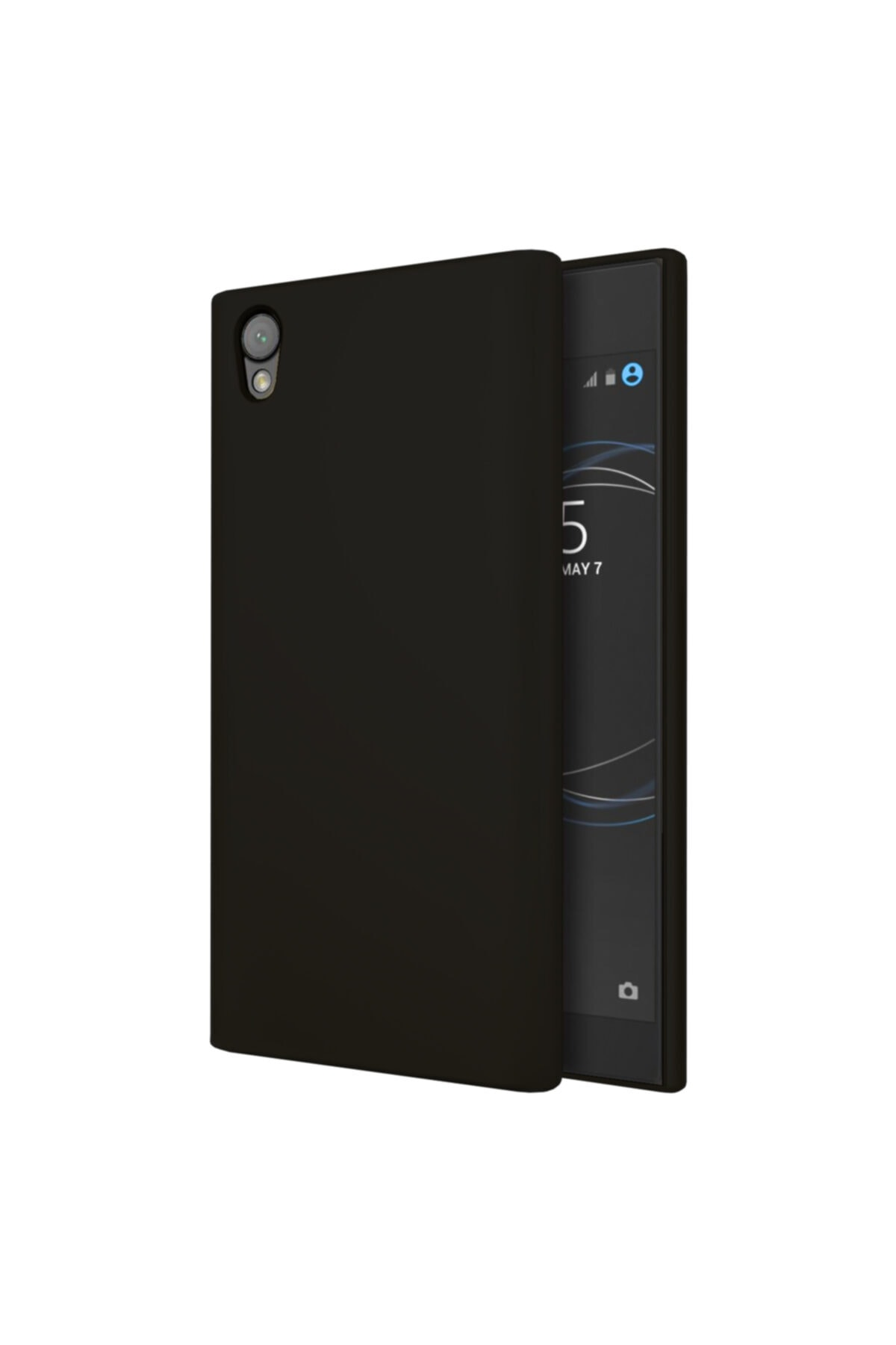 Sony Xperia XA1 Premium Simple Silikon Arka Kapak Siyah 1