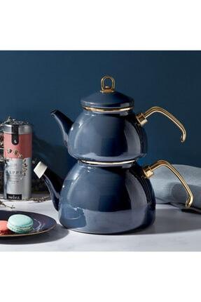 Karaca Retro Emaye Antrasit Çaydanlık