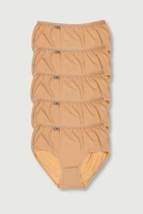 Tutku Kadın Ten 5'li Paket Likralı Bato Külot Elf568t0924ccm5
