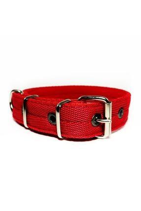 Enpatili Köpek Boyun Tasması Orta Büyük Irk Kırmızı