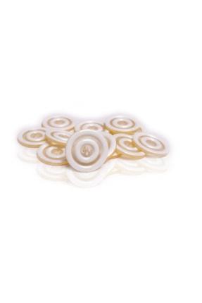 Anka Polyester Düğme Büyük Beyaz Hırka 30mm 10 Adet
