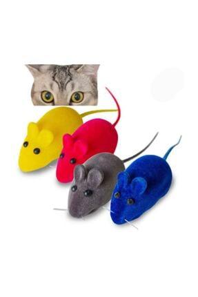 Lion Kedi Oyuncağı Öten Fare 4 Adet Farklı Renk
