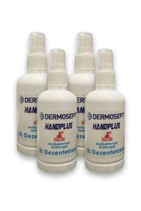 DERMOSEPT Handplus Antibakteriyel El Dezenfektanı 100ml X 4