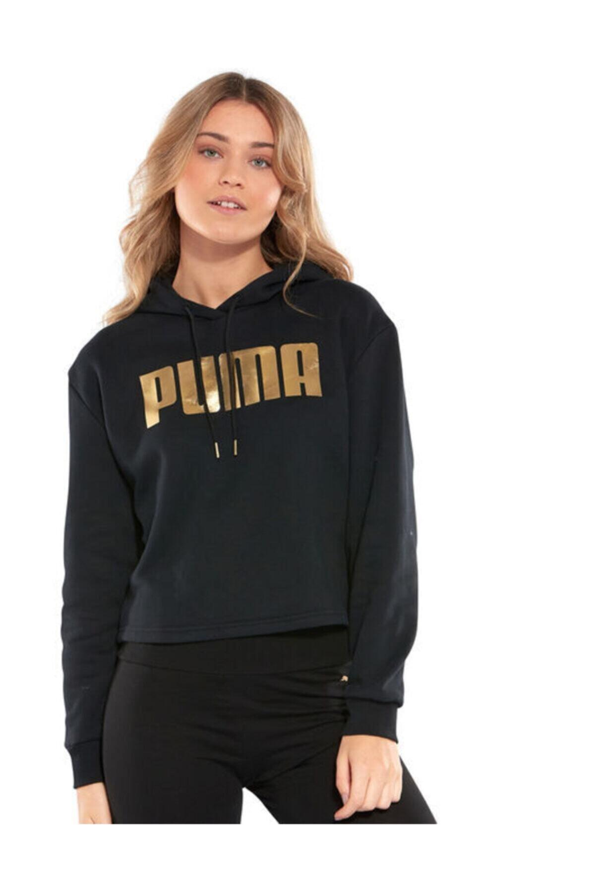Puma Kadın Siyah Spor Sweatshirt 53096601 1