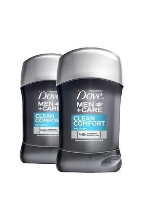 Dove Men Erkek Deodorant Stick Clean Comfort Stick 50 ml X2