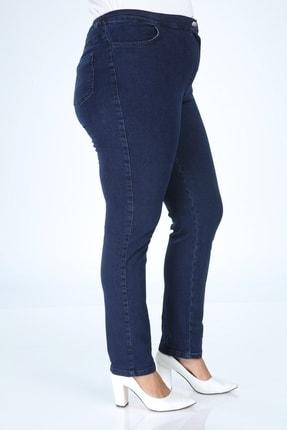 Buket Büyük Beden Beli Lastik Detaylı Kot Pantolon