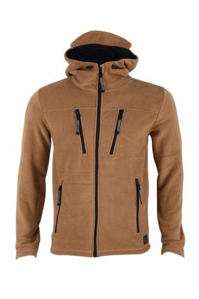 GHASSY CO. Erkek Taba Army Tactical Polar Kapüşonlu Ceket