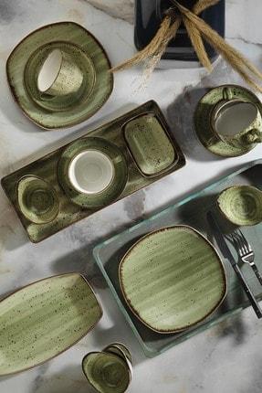 Kütahya Porselen Yeşil 30 Parça Kahvaltı Takımı