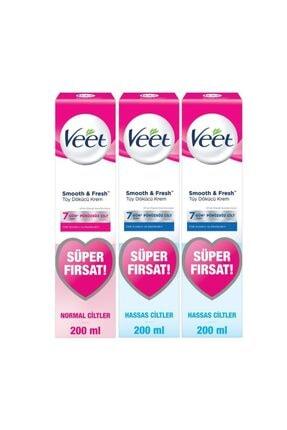 Veet Tüy Dökücü Krem Bacak Ve Vücut Bölgesi Için 400 ml Hassas Ciltler - 200 ml Normal Ciltler