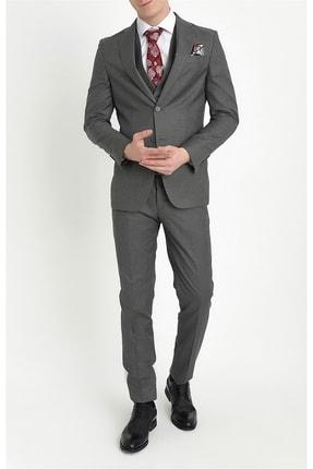 Efor Erkek Antrasit Slim Fit Klasik Takım Elbise Tk 782