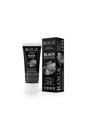 R.O.C.S. Rocs Black Edition Kömür Özleri Ile Beyazlatıcı Diş Macunu - 74 gr