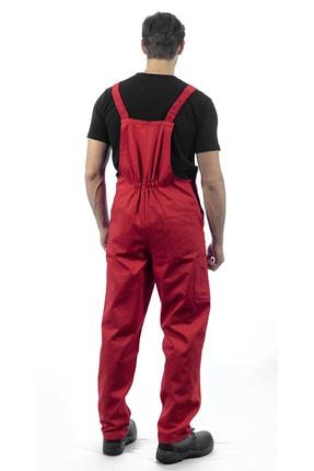 Endüstri Giyim Kırmızı Askılı Bahçıvan Tulum Iş Tulumu Iş Elbisesi Iş Güvenliği