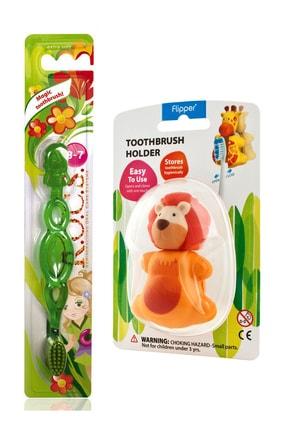 R.O.C.S. Kids 3-7 Yaş Diş Fırçası Ve Flipper Hijyenik Saklama Kabı Seti – Aslan Figürlü