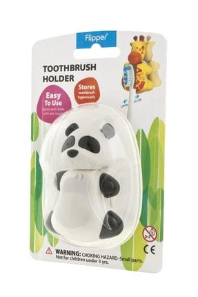 Flipper Flıpper Otomatik Kapaklı Hijyenik Diş Fırçası Saklama Kabı - Panda