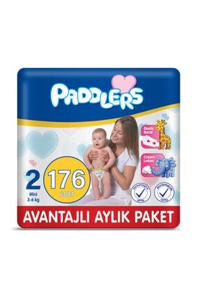 Paddlers Bebek Bezi 2 Numara Mini 176 Adet (3-6 Kg) Aylık Paket