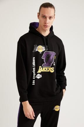 DeFacto NBA Lisanslı Oversize Unisex Kapüşonlu Sweatshirt