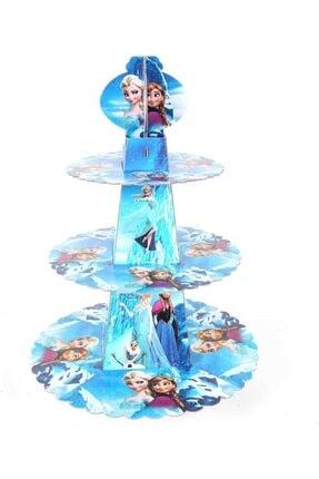 LOMİGA 3 Katlı Karton Lisanslı Kek Standı Frozen 2 Adet