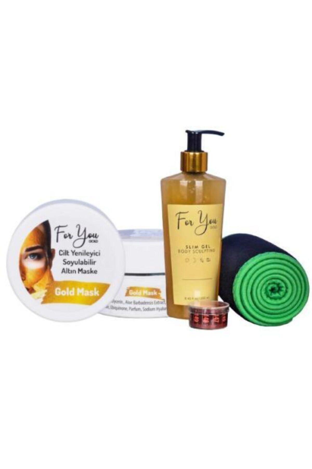 For You Gold Slim Jel Yağ Yakıcı - Çatlak Karşıtı - Sıkılaştırıcı - Selülit Jeli & Altın Maske 1