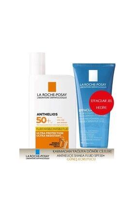 La Roche Posay Anthelios Spf50+ Shaka Fluid 50ml & Effaclar Jel 50 Ml Hediye