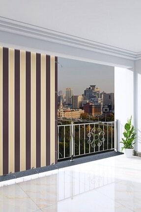 Ataylar Balkon Güneşlik Brandası 300 X 210 Kahverengi Renkli Balkon Perdesi