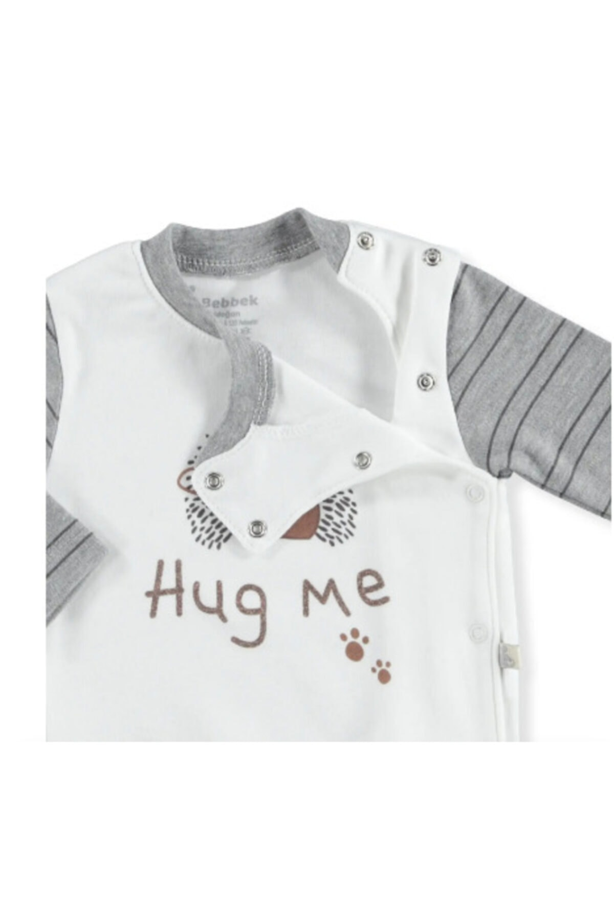 Bebbek Erkek Bebek Gri Hug Me 5li Hastane Çıkışı 2