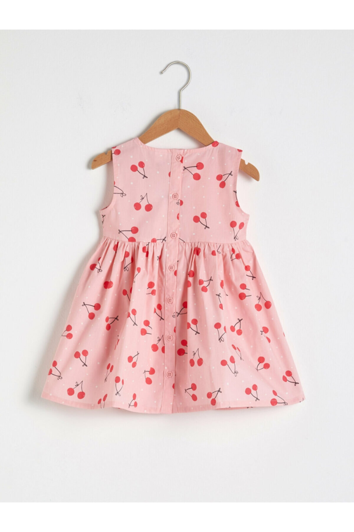 LC Waikiki Kız Bebek Pembe Baskılı Elbise 2