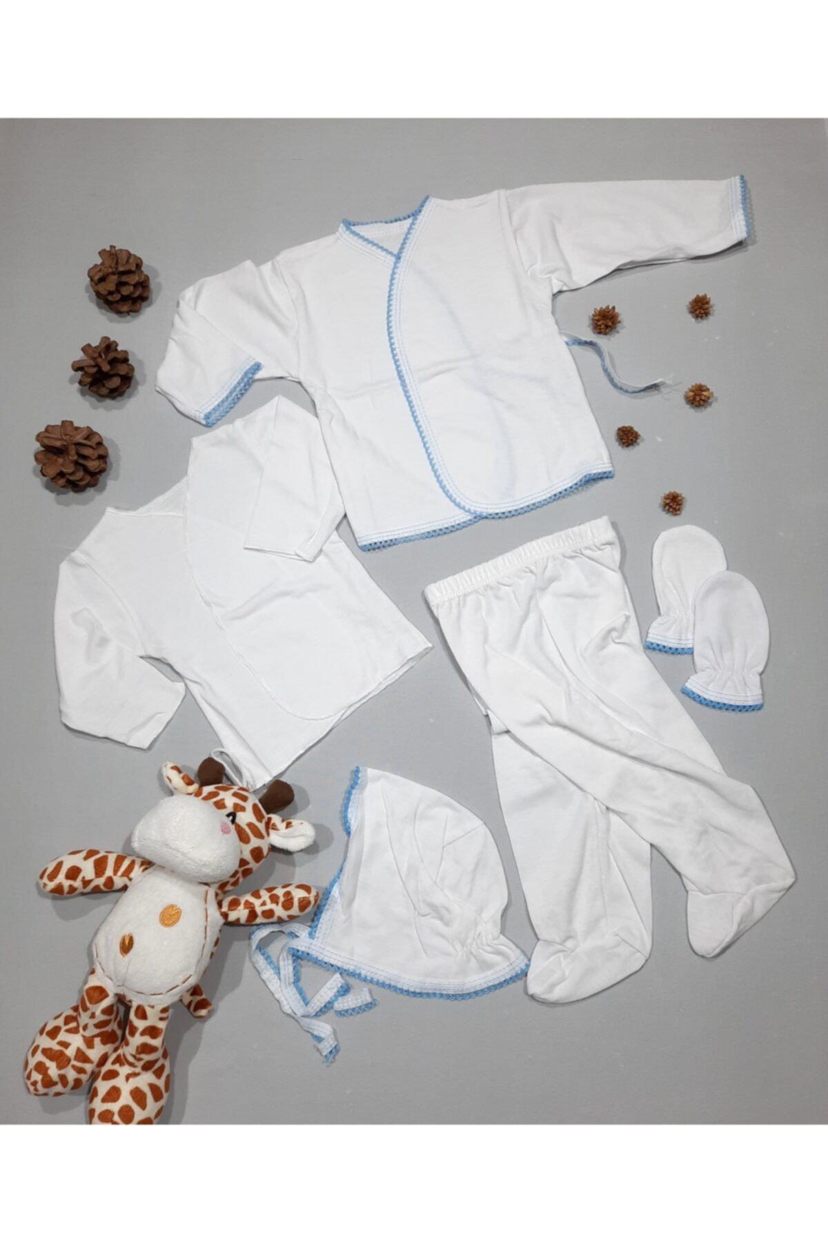 Melish Zıbın Set Yeni Doğan Erkek Bebek 5'li Hastane Çıkışı 1