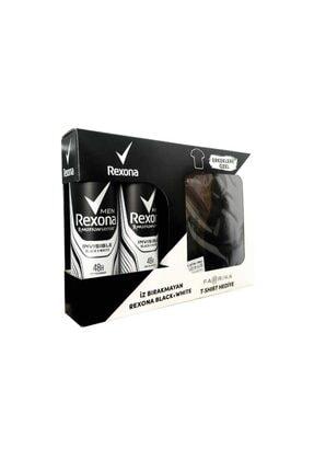 Rexona Men Invisible Black + White Anti-perspirant Deodorant 2 X 150 Ml Adet Fabrika T-shirt Hediyel