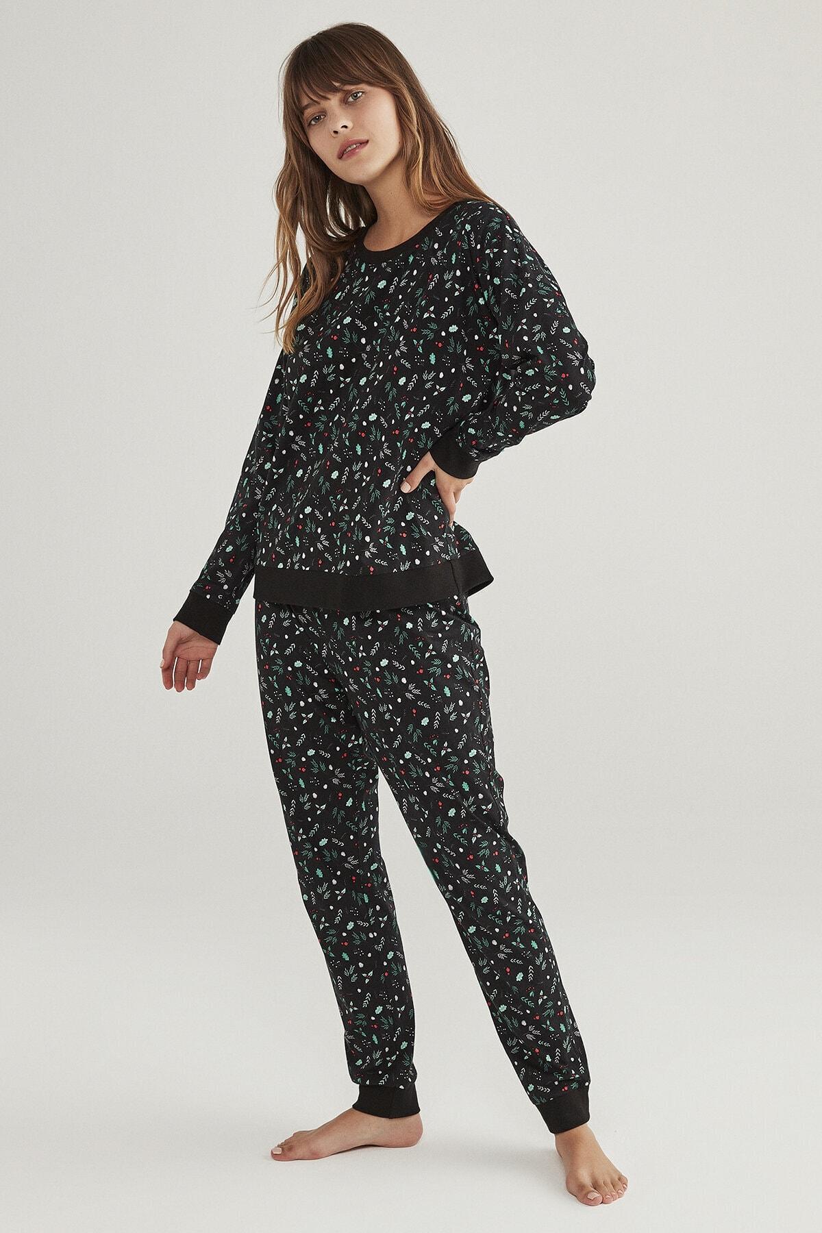 Penti Siyah Dark Season Pijama Takımı 1