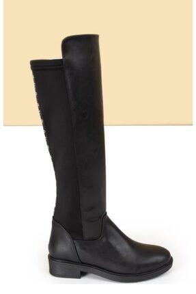Pierre Cardin Kadın Siyah Arka Konç Strech Binici Çizme 50651