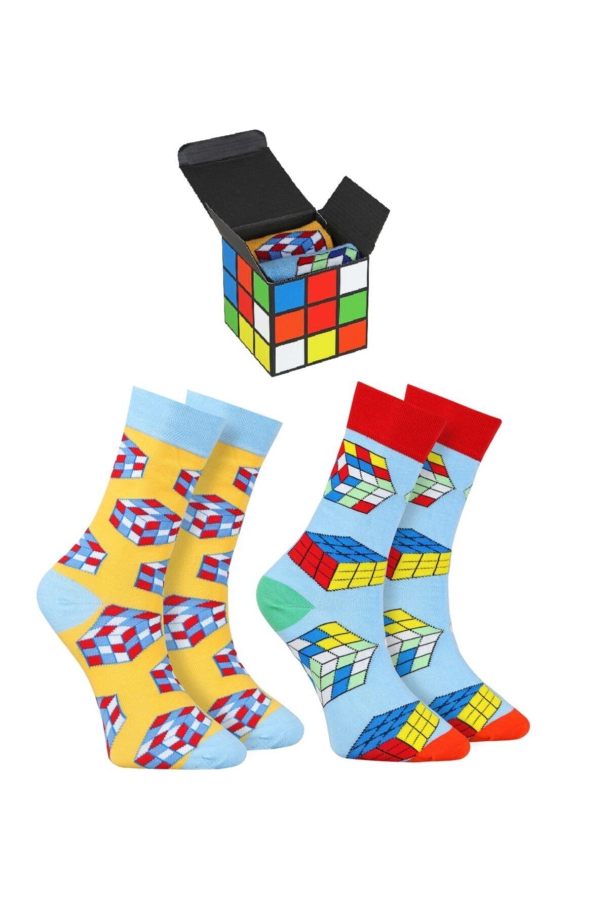 Özgür Çoraplar Erkek Rubik Kombin Çorap 2