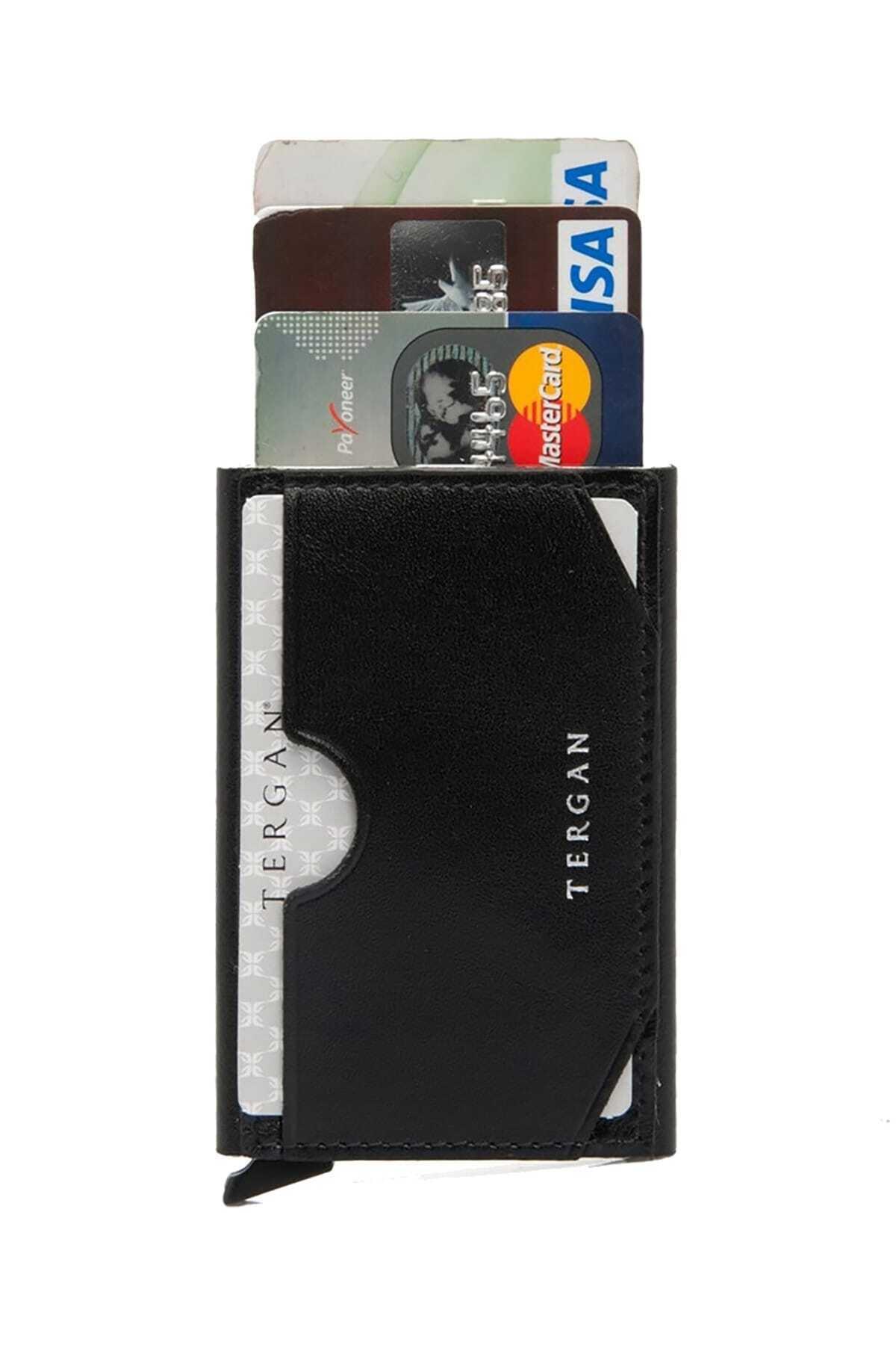 Tergan Unisex Siyah Deri Kredi Kartlık S1KK00000260 2