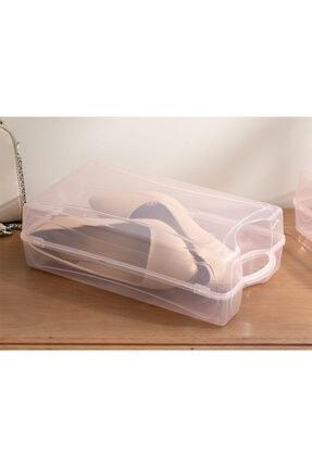 English Home Loya Plastik Kadın Ayakkabı Saklama Kutusu 33x18x10cm Pudra