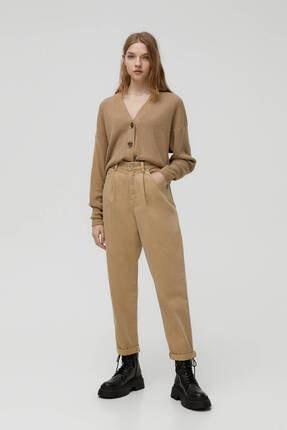 Pull & Bear Kadın Pamuklu Slouchy Pantolon