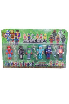 MINECRAFT Avengers Süper Kahramanlar 12'lifigür Seti