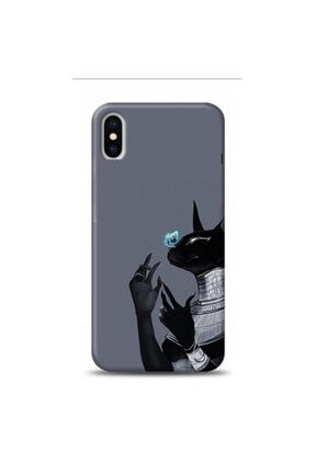 EXCLUSIVE Apple Iphone Xs Black Cat Diamond Desenli Telefon Kılıfı