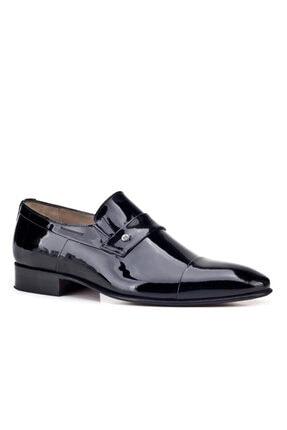 Cabani Kösele Taban Bağcıksız - Erkek Ayakkabı Siyah Rugan