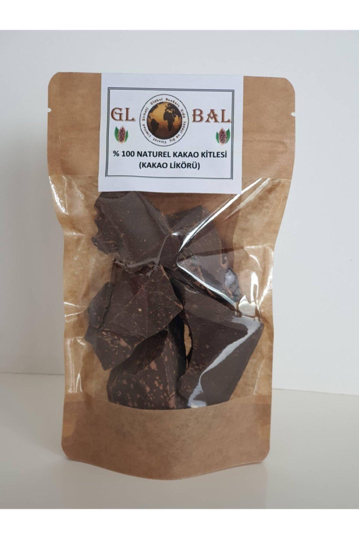 Global %100 Naturel (ham) Kakao Kitlesi(kakao Likörü)-%100 Bitter Çikolata-200 Gr 1