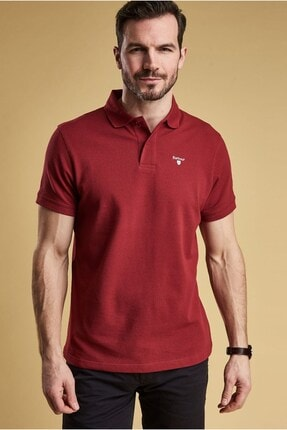 Barbour Sports Polo Yaka Re95 Biking Red