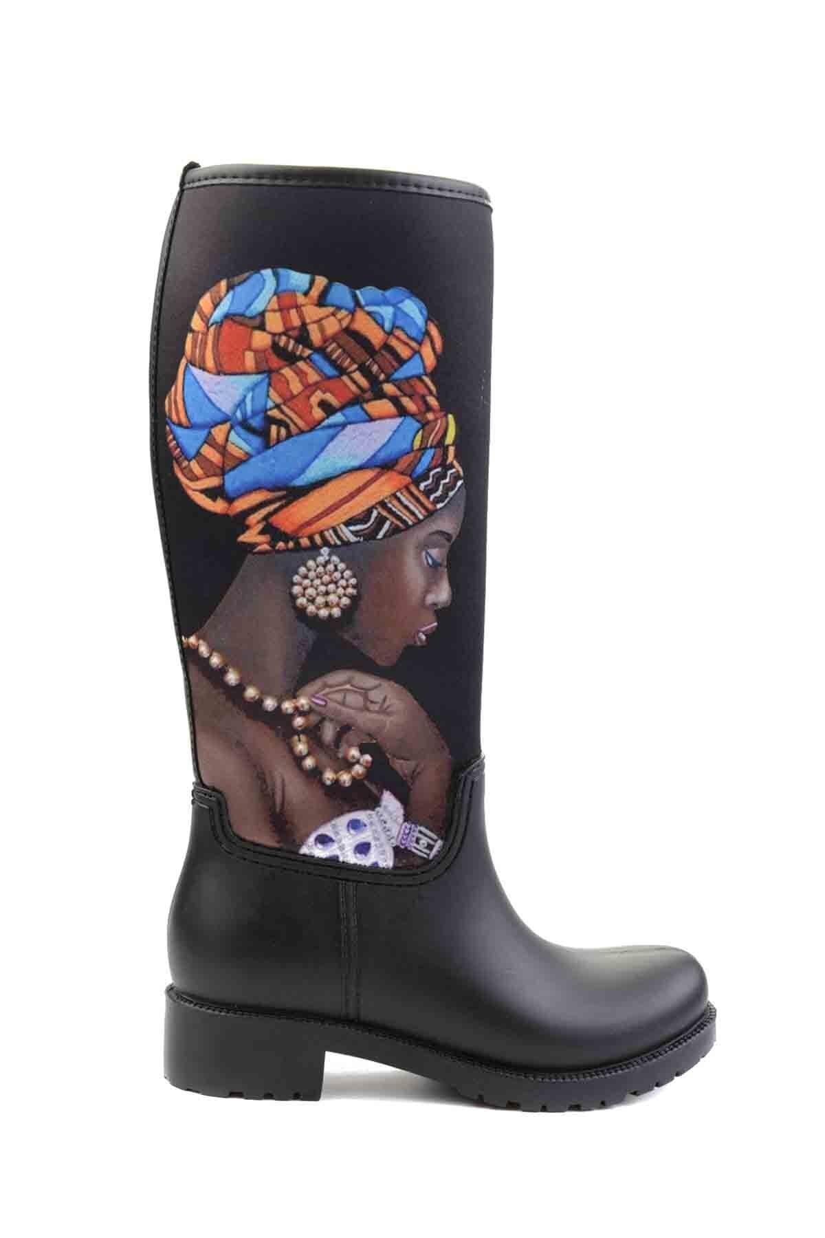 Bambi Siyah Kadın Çizme M0574111523 2