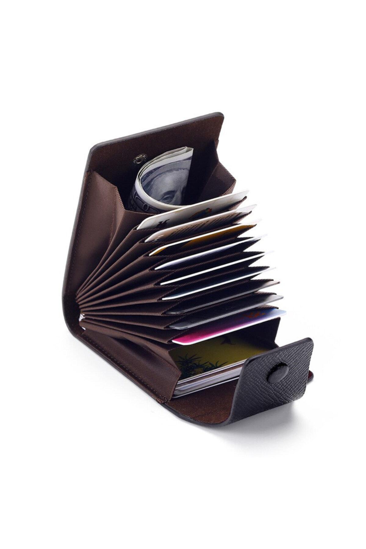 Kemer Dünyası Mbl Unisex 11 Bölmeli Siyah Kredi Kartlık - Cüzdan 1