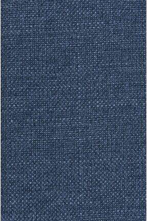C&SARI Design Mavi Casari Keten Görünümlü Fon Perde Ipli Pile
