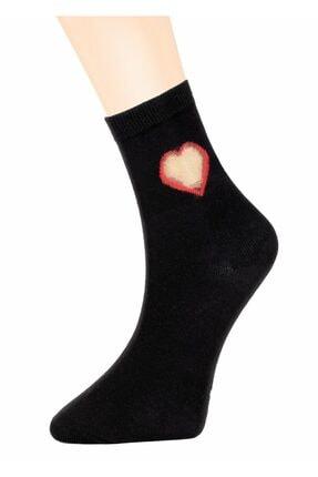 SUWEN Tulle Heart Soket Çorap