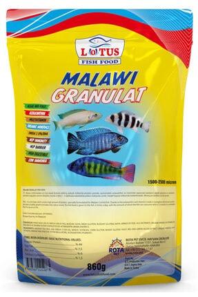 Lotus Malawi Granulat 860 Gr Poşet Yunus Sarı Prenses Ahli Ciklet Yüksek Protein Balık Yemi