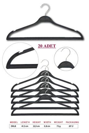 TENA MODA Unisex Siyah Dolgulu Kıyafet Elbise Gömlek Pantolon Etek Askısı 20 Adet